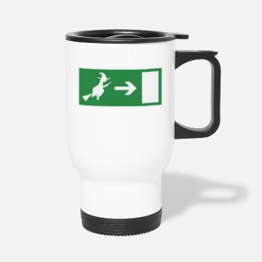 Emergency Exit Witch emergency exit Halloween - Travel Mug