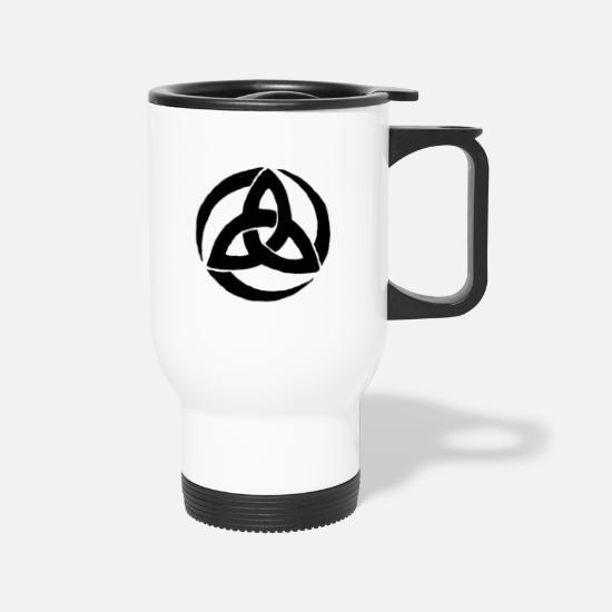Symbol  Mugs & Drinkware - trinity symbol - Travel Mug white