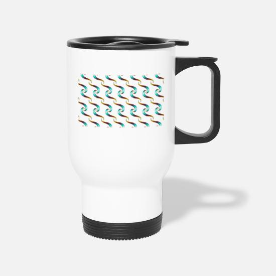 Fur Mugs & Drinkware - fury pattern - Travel Mug white