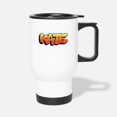 Graffiti Kate Graffiti Bubble Style. Custom Name Graffiti - Travel Mug
