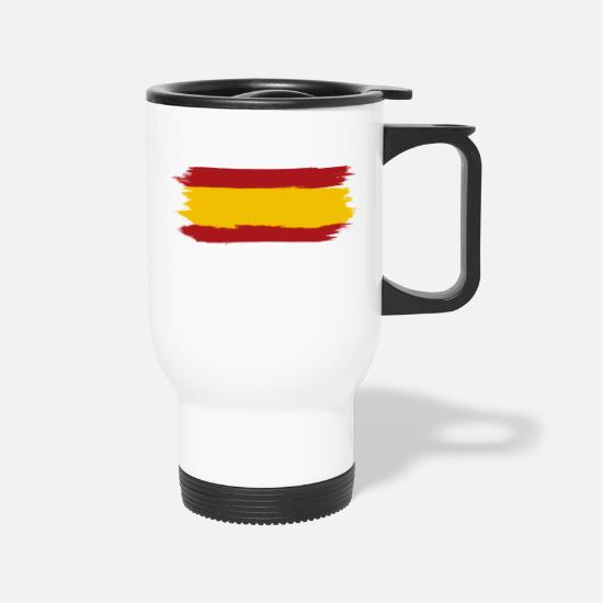Sevilla Mugs & Drinkware - Tee shirt spain flag - Travel Mug white