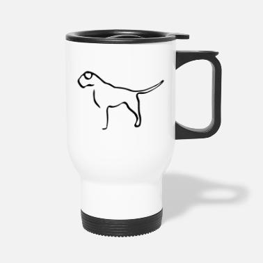 Deutsche Dogge one line mastiff great dane - Travel Mug