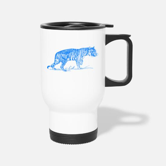 Predator Mugs & Drinkware - Feline Predator Design - Travel Mug white