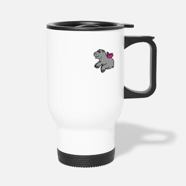 Sumu Lee Flying hippo 2 - Travel Mug