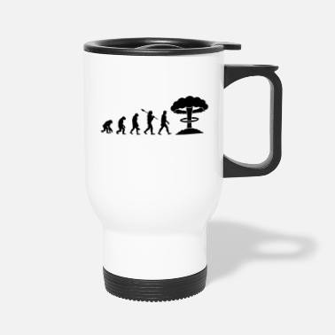 Idiocracy Evolution of Nuclear - Travel Mug