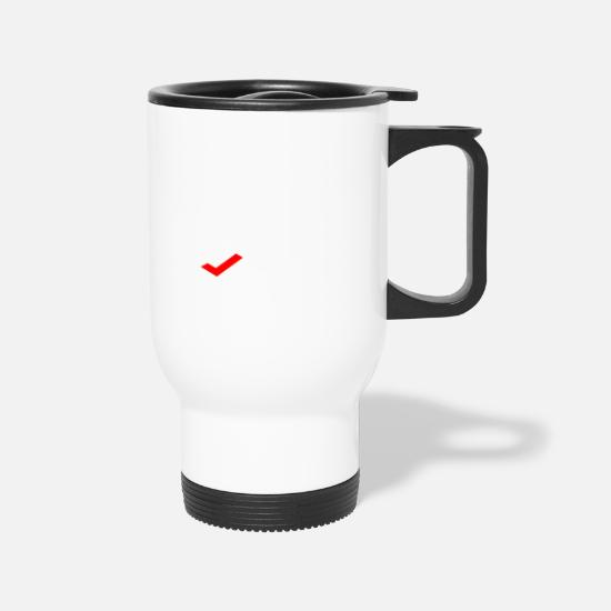 Single Mugs & Drinkware - BORED - Travel Mug white