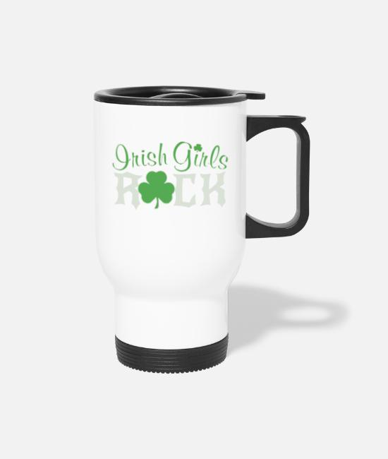 Irish Music Mugs & Cups - Irish Girls Rock T Shirt - Travel Mug white