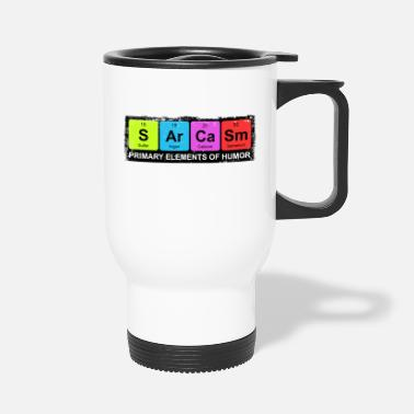 Humor Sarcasm Periodic Elements Of Humor - Travel Mug