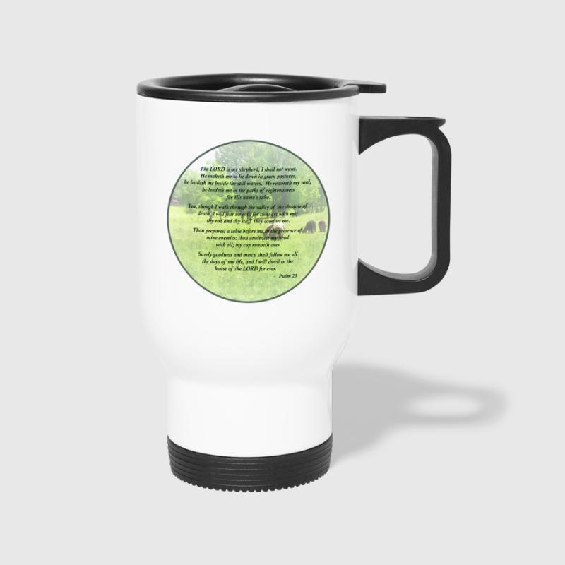 Psalm 23 The Lord Is My Shepherd - Travel Mug