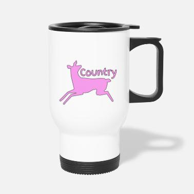 Country Girl Country ( Pink Country ) - Travel Mug
