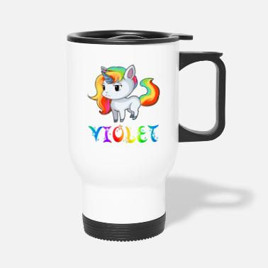 Violet Violet Unicorn - Travel Mug