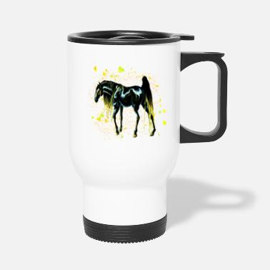 Color Yellow Love Horse - Travel Mug