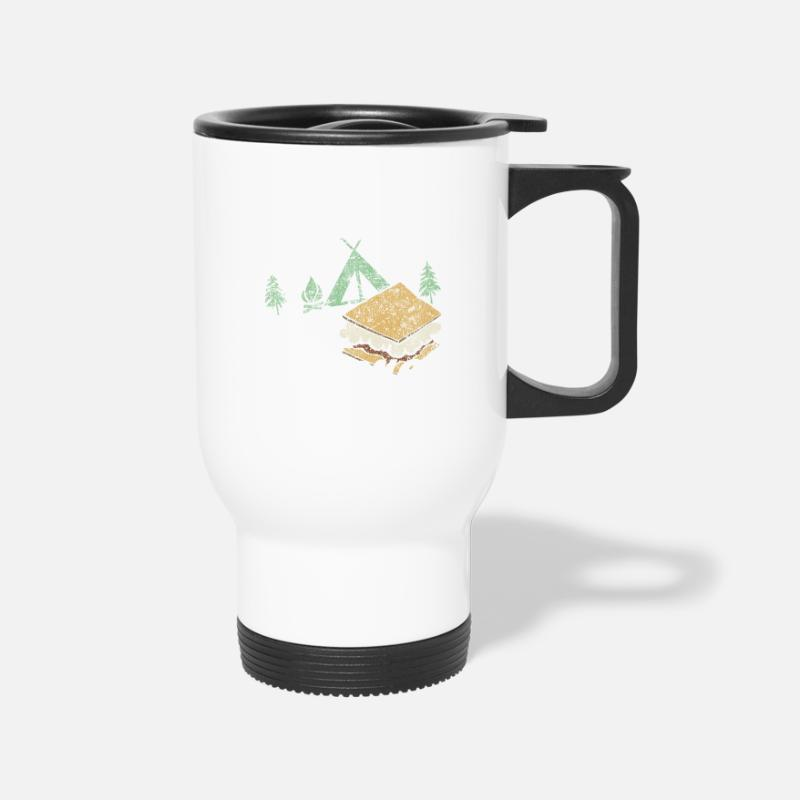 Funny Travel Campfire Mug S'mores Outdoorsamp; Camping White Distress f76ygb