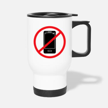 Mobile Phone Vector no mobile phones sign - Travel Mug