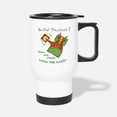 Handraft Zodiac Taurus Design for light background - Travel Mug