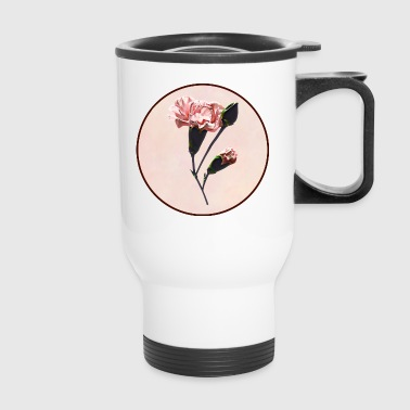 Delicate Carnation Wtih Buds With Background - Travel Mug