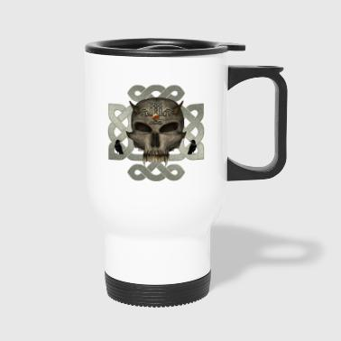 Awesome skull with celtic knot - Travel Mug