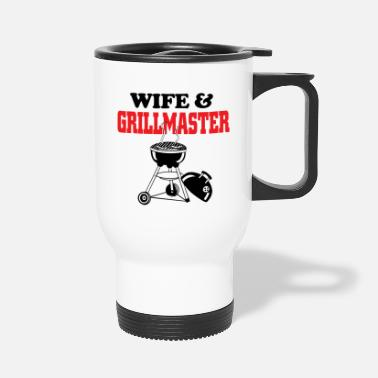 Grillmaster wife and grillmaster - Travel Mug