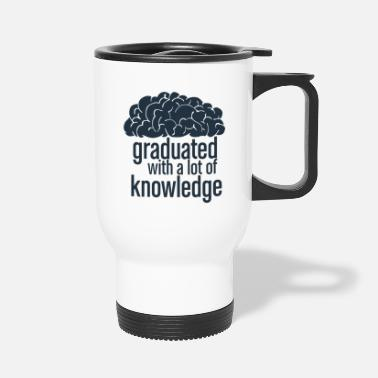 Congratulations studying finished graduation promotion gift idea - Travel Mug