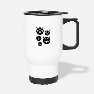 Owl Owl Monsters Design - Travel Mug