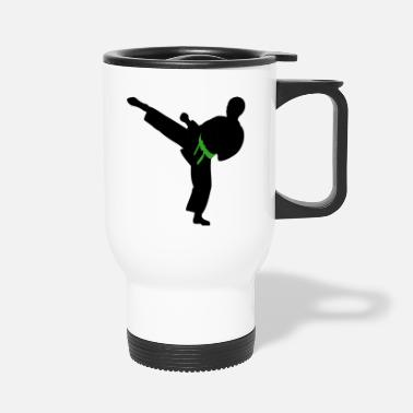 Karate Boy Vector Changeable Belt Color - Travel Mug