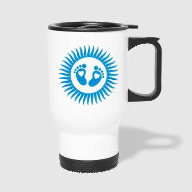 baby - footprint - sun - Travel Mug