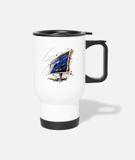 Crazy Mugs & Cups - Crazy Computer Monitor - Travel Mug white