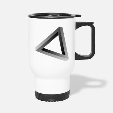 Triangle Impossible triangle visual optical illusion - Travel Mug