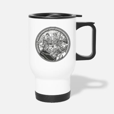 Norman Thelwell Odin and his ravens - Travel Mug