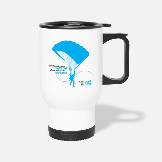 Parachute Mugs & Drinkware - Parachute Parachuting Sky Para - Travel Mug white