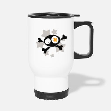 Asterisk Skull with asterisks - Travel Mug
