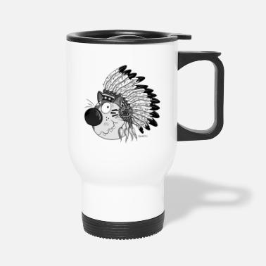Baby Indian Cat - Indians - Cartoon - Gift - Travel Mug