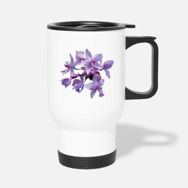Dew Purple Orchids With Dew - Travel Mug