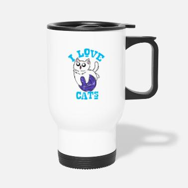 I Love I love cats - Travel Mug