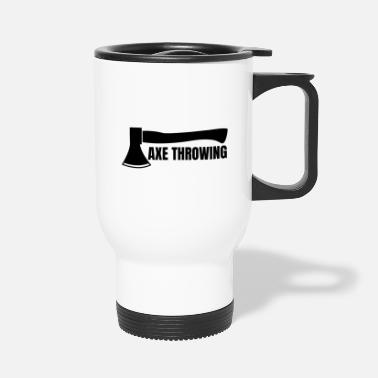 Log Splitter Axe throwing throwing Tomahawk double ax gift - Travel Mug