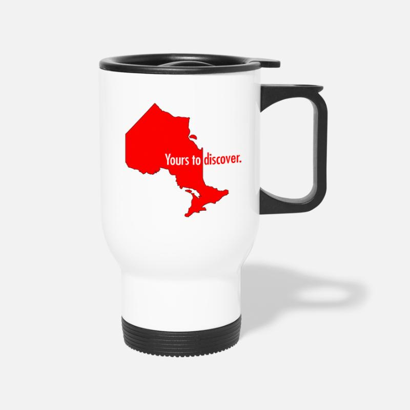 Ontario Mugs & Drinkware - Ontario: Yours to discover - Travel Mug white