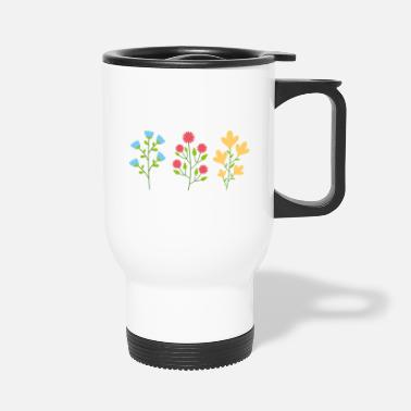 Silhouette Environmental protection gift environment flowers - Travel Mug