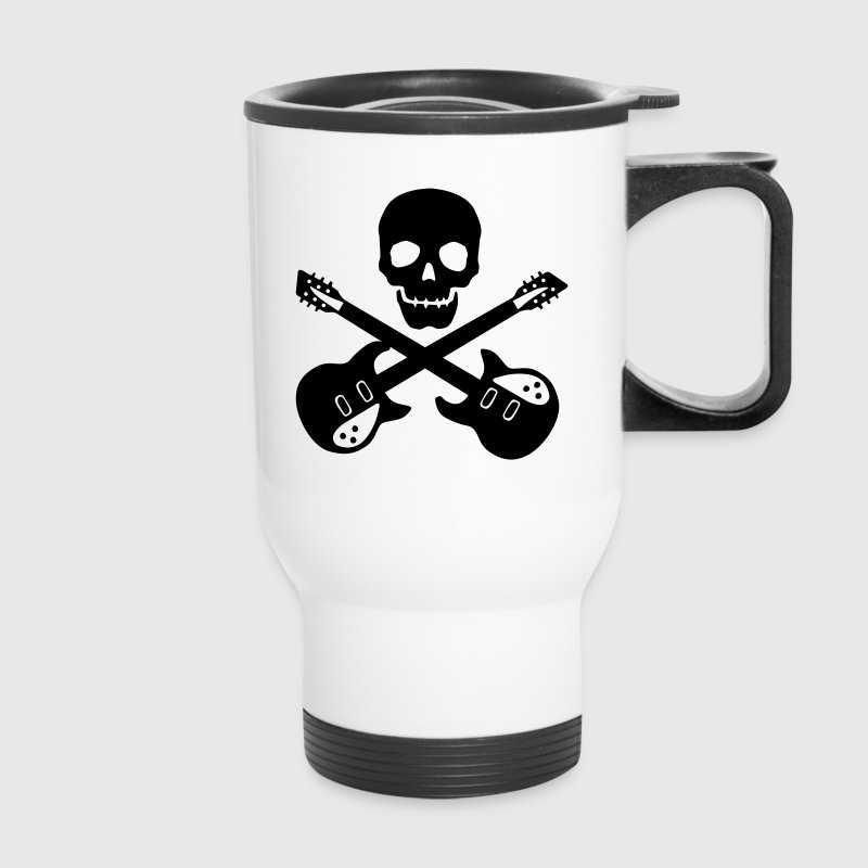 skull guitar - Travel Mug
