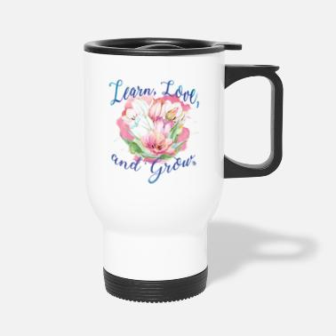 beautiful flower message - Travel Mug