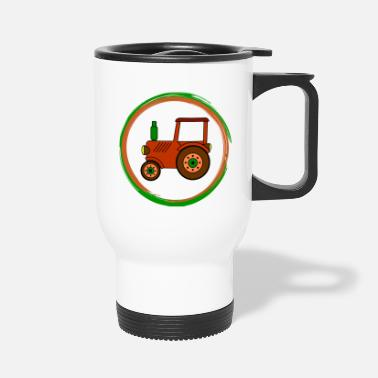 Toy brown toy tractor / toy tractor - Travel Mug
