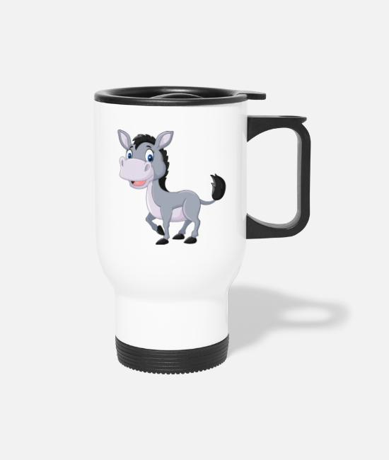Cute Horse Mugs & Cups - Cute Horse - Travel Mug white