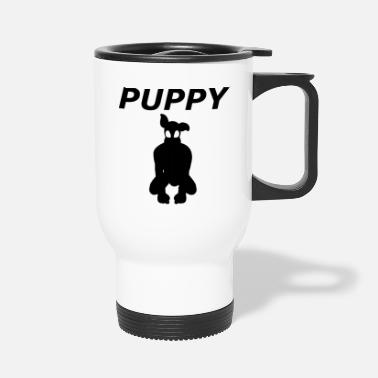 Sm The shadow of a cute puppy - Travel Mug