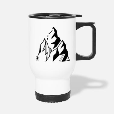 Mountain Sports Mountains Hiking Sport - Travel Mug