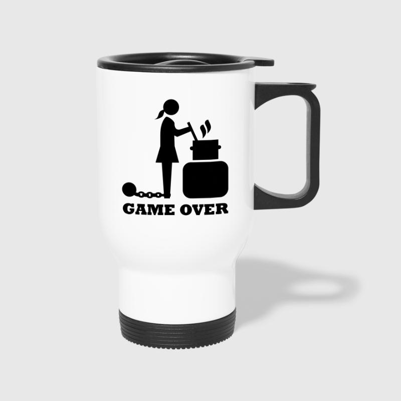 game over cooking woman bachelorette bachelor   - Travel Mug