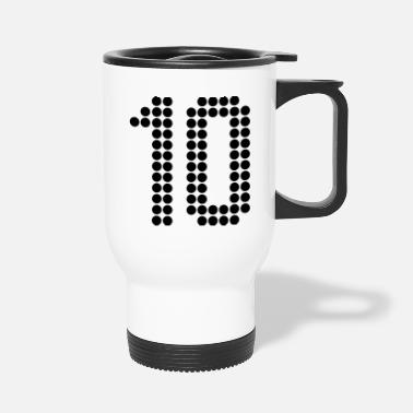 Number 10, Numbers, Football Numbers, Jersey Numbers - Travel Mug