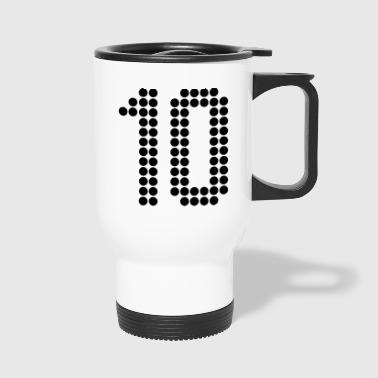 10, Numbers, Football Numbers, Jersey Numbers - Travel Mug