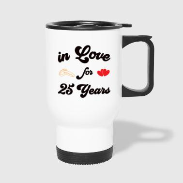 Shirt silver wedding anniversary married 25 years - Travel Mug