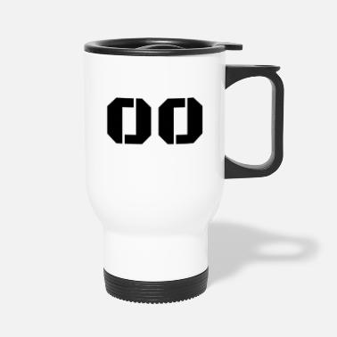 Jersey Number Jersey Number 00 - Travel Mug