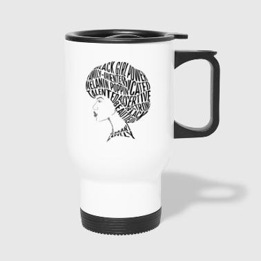 Afro Hair Word Art Design - Travel Mug