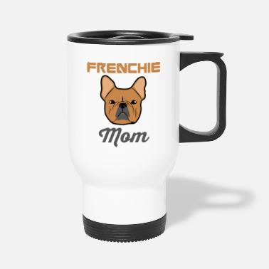 Bull Funny Peony - French Bull Dog Frenchie - Animal - Travel Mug